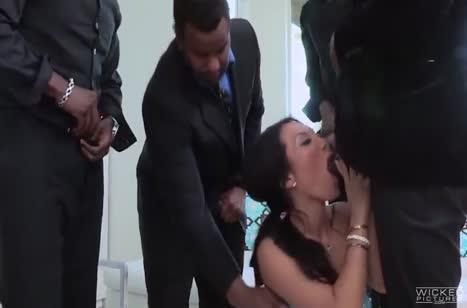 Соска Asa Akira отдалась неграм на групповое порно #2