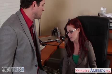 Рыжую милашку Penny Pax трахнули прямо в офисном кресле #3